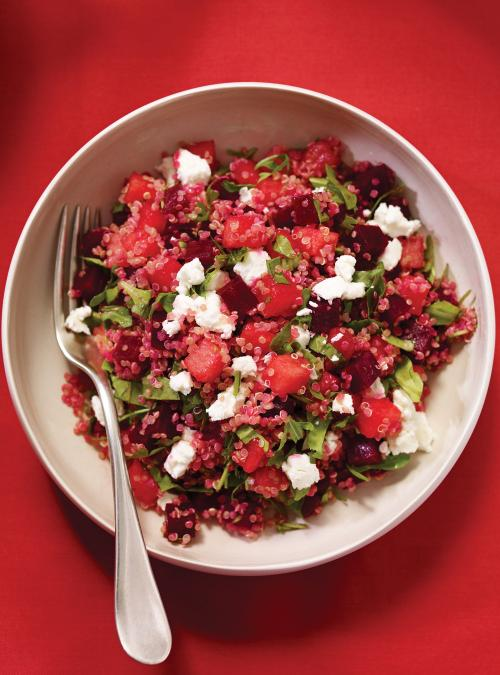 Quinoa, Melon and Beet Salad