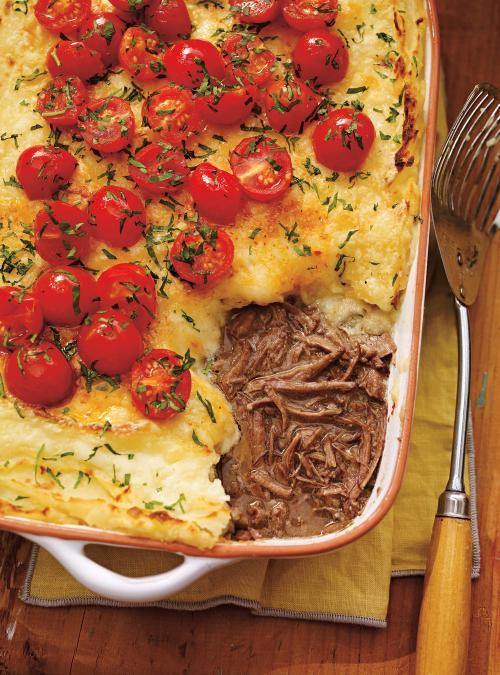 Parmentier au bœuf braisé au fromage Oka
