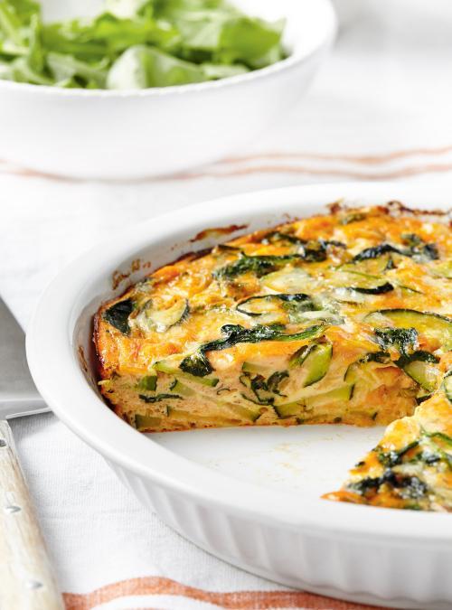 Frittata aux légumes verts et au cheddar