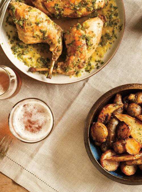 Beer-Braised Rabbit