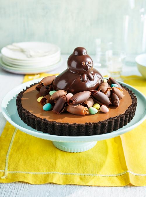 Chocolate Hen's Nest Pie