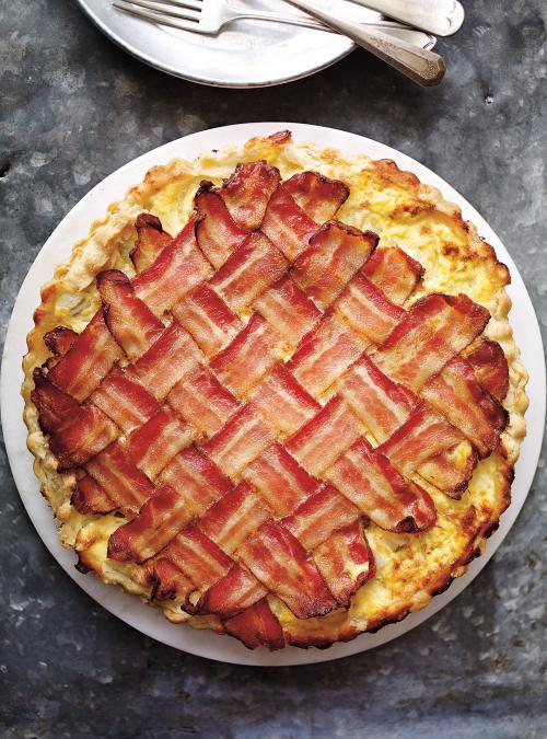 Tarte sal e aux pommes de terre et au bacon ricardo - Recette tarte salee originale ...