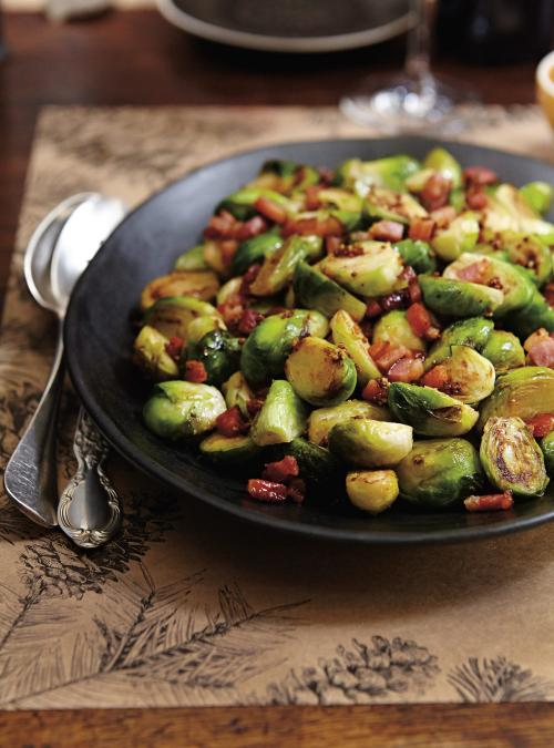 Brussels Sprouts with Mustard and Bacon