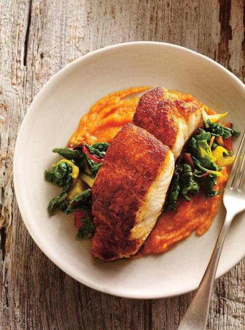 Seared spiced fish with carrot pure ricardo seared spiced fish with carrot pure forumfinder Image collections