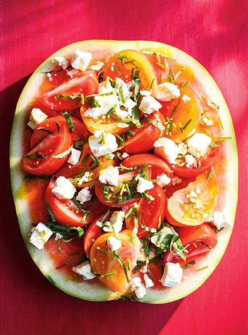 Watermelon, Tomato and Feta Salad