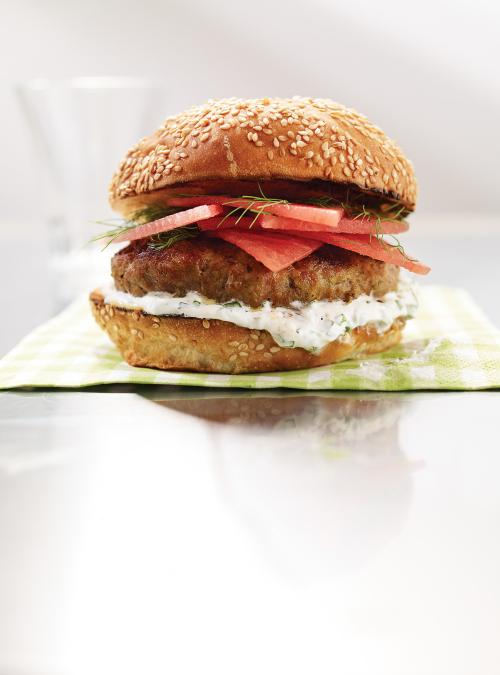 Veal and Watermelon Burgers