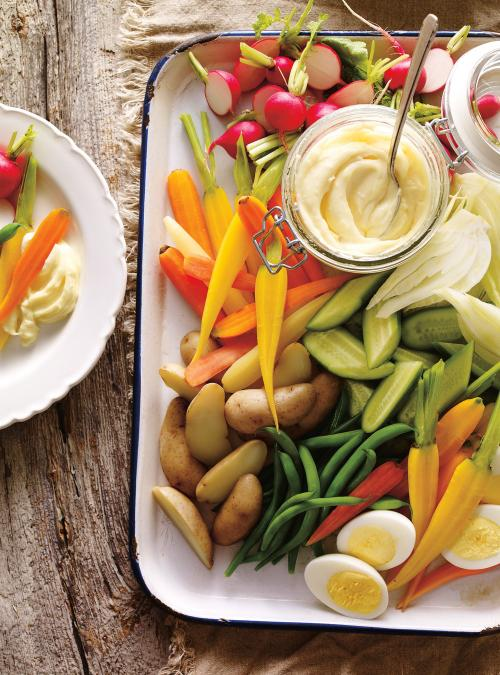 Vegetable Platter with Aioli