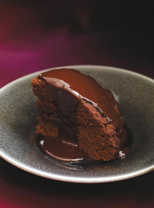Chocolate Cake with Mocha Sauce