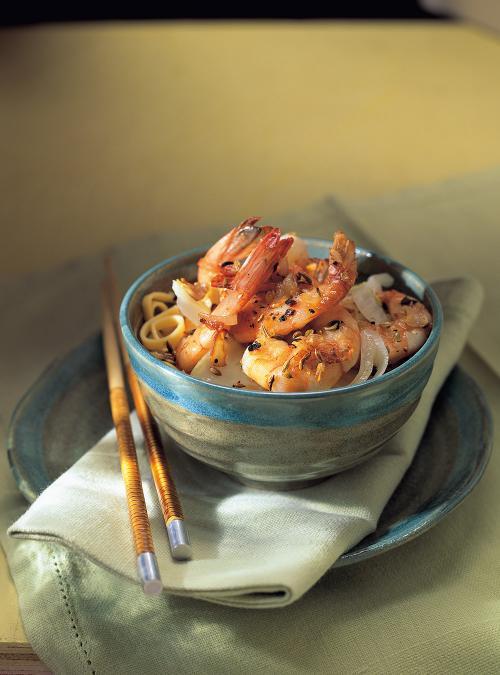 shrimp with pastis and garlic ricardo