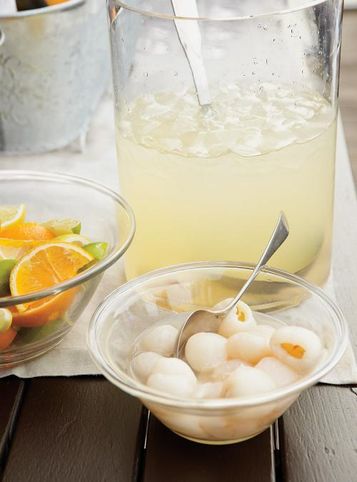 Lemonade, Lychee and Coconut Punch