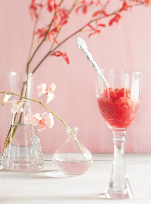 Granité aux fraises et au champagne | Ricardo