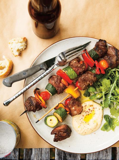 Mediterranean-Style Beef Skewers