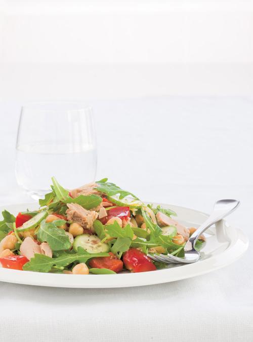 Salade Repas Aux Pois Chiches Et Au Thon Ricardo