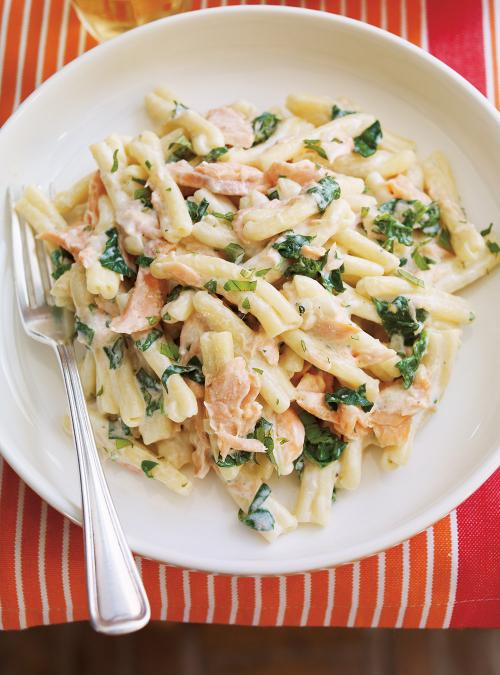 creamy pasta with salmon ricardo. Black Bedroom Furniture Sets. Home Design Ideas
