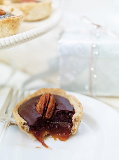 Tartelettes au caramel et au chocolat