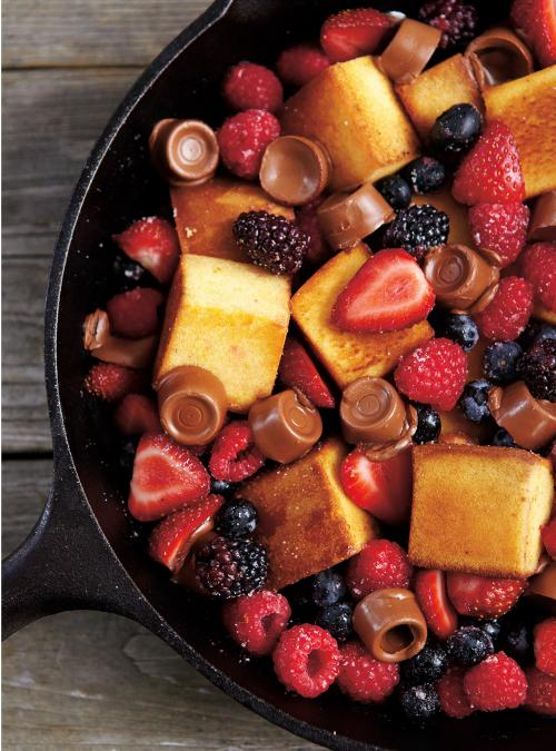 Berry, Chocolate and Cake Skillet