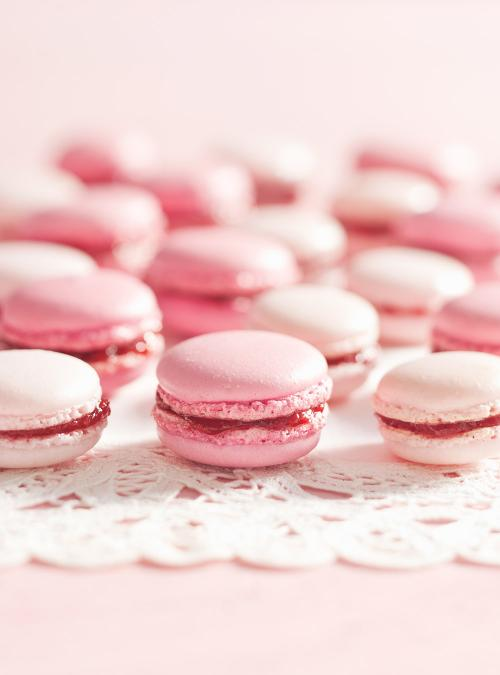 pink peach macarons rose - photo #6