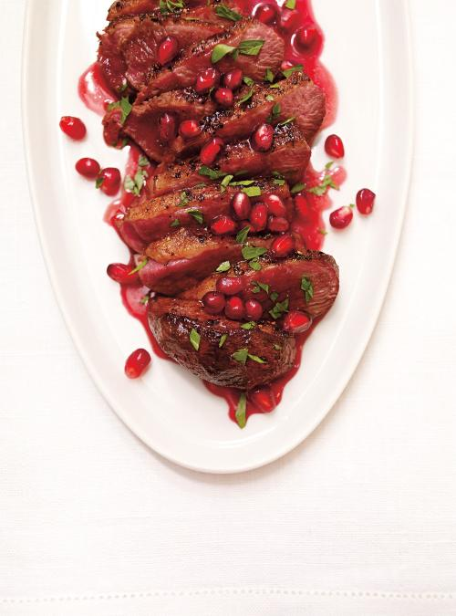Seared Duck with Pomegranate