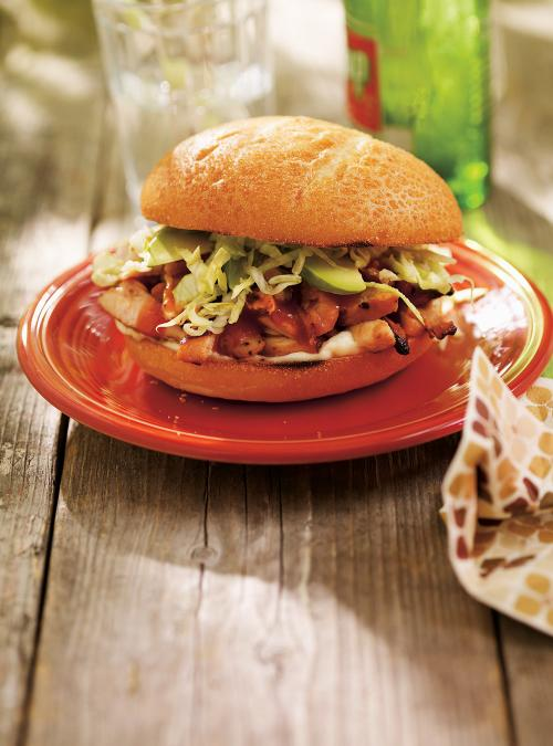Chicken Burgers with Barbecue Sauce
