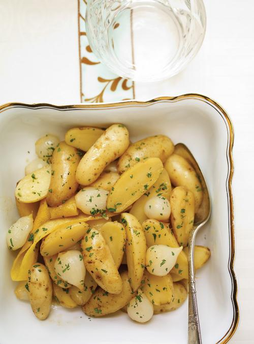 Fingerling Potato and Onion Casserole