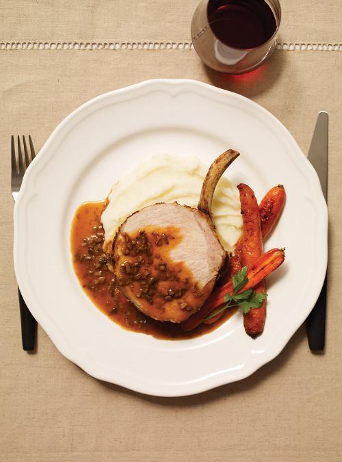Carr de porc sauce aux champignons blancs ricardo for Article de cuisine ricardo