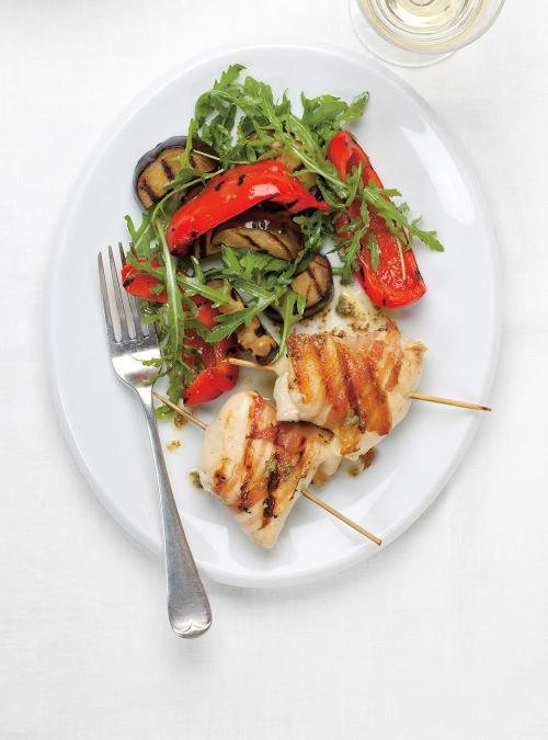 Saltimbocca de poulet, au basilic et aux câpres
