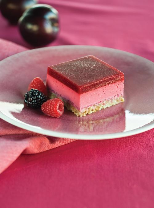 Yogurt and Raspberry Squares