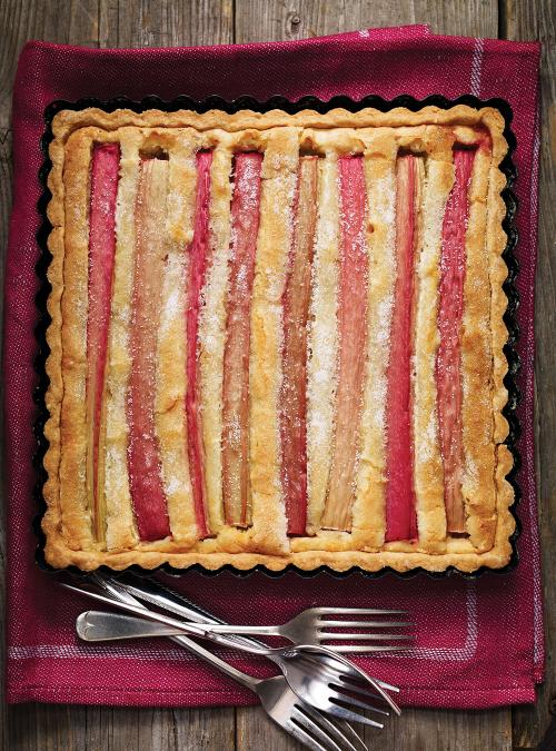 Almond and Rhubarb Tart