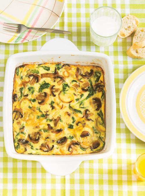 Mushroom and Spinach Frittata