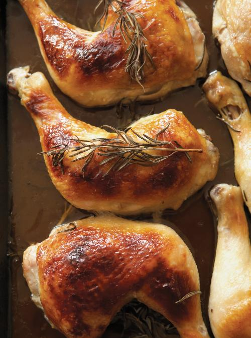 Cuisses de poulet au miel et au romarin ricardo - Cuisse de poulet calories ...