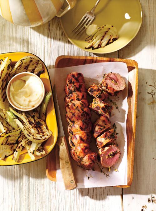 Filets de porc farcis au olives et au citron confit