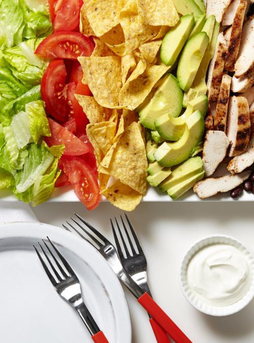 Salade-taco au poulet
