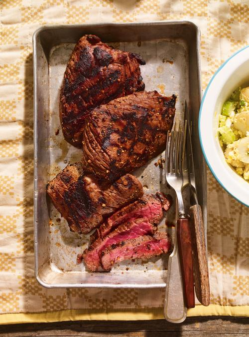 Grilled Flap Steak with Montreal Steak Seasoning