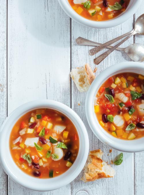 Soupe de poisson et de fenouil