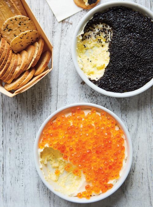 Tartinade d'œufs et caviar