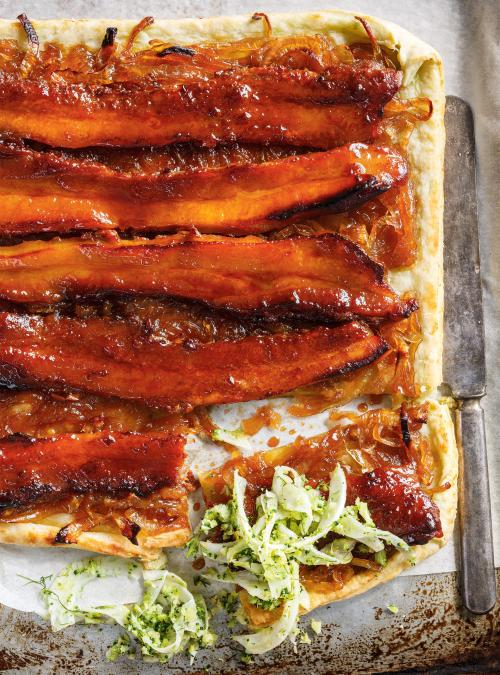 Maple-Glazed Pork Belly Tart