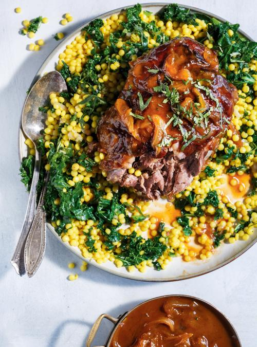 Apricot-Braised Lamb with Israeli Couscous
