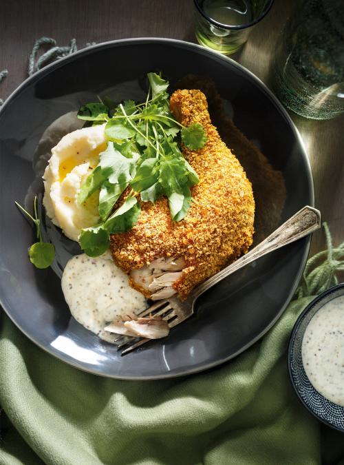 Cornflake-Crusted Chicken Legs | Ricardo
