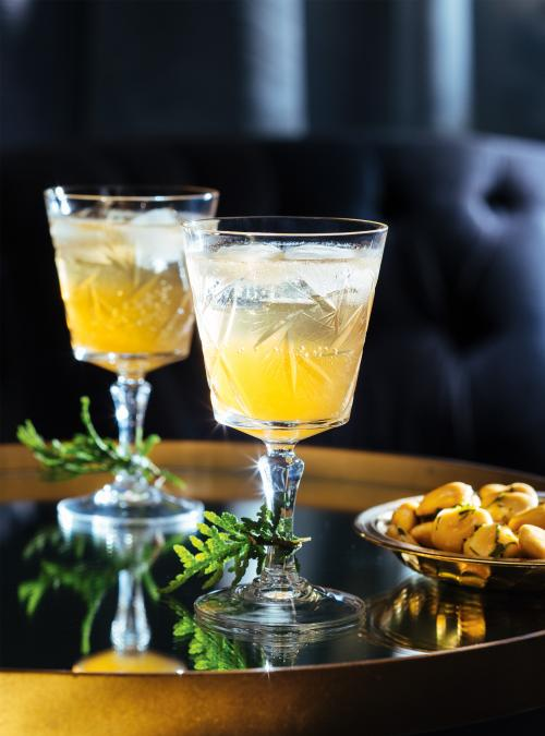 Amaretto Sour with Ginger Ale