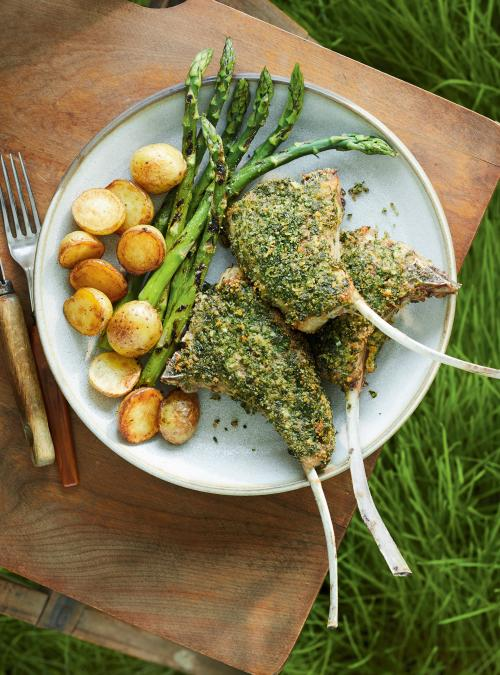 Herb-Crusted Lamb Chops