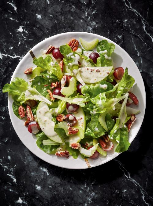 Waldorf Salad with Green Apple, Celery and Pecans