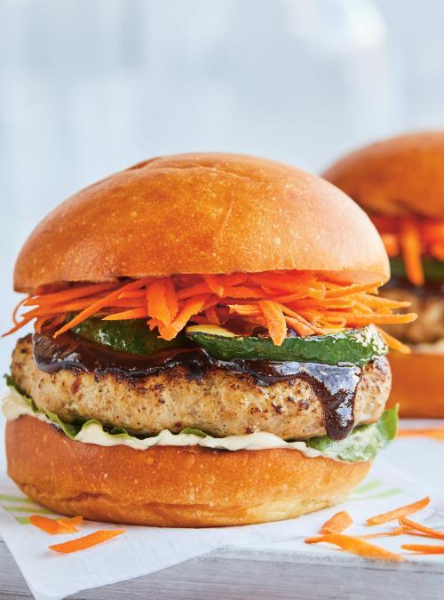 Pork Burgers with Hoisin Sauce