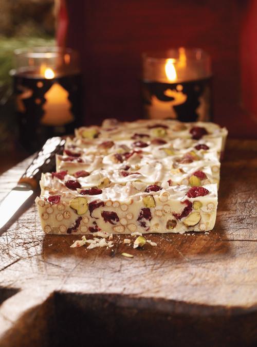 Cranberry and Pistachio Bark
