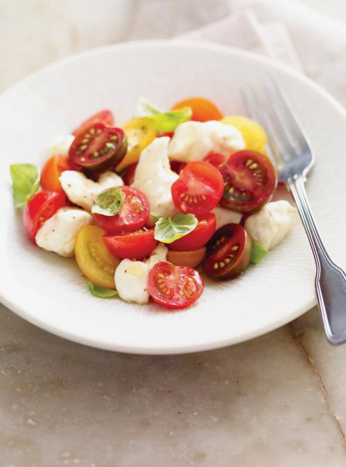 Cherry Tomato and Cheese Curd Salad