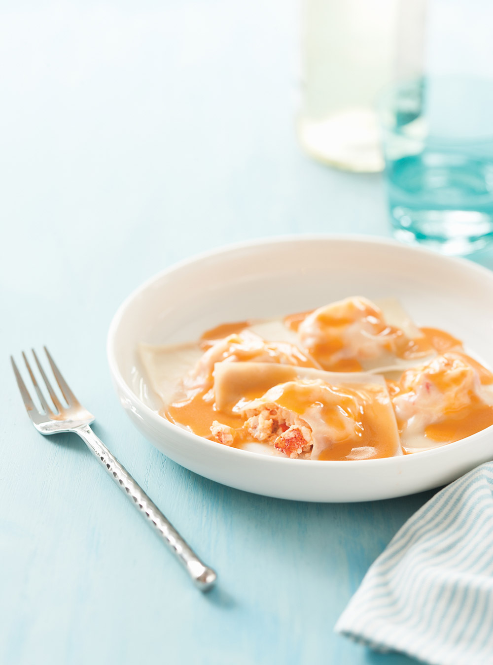 Raviolis de homard sauce au beurre au homard ricardo for Cuisine ricardo