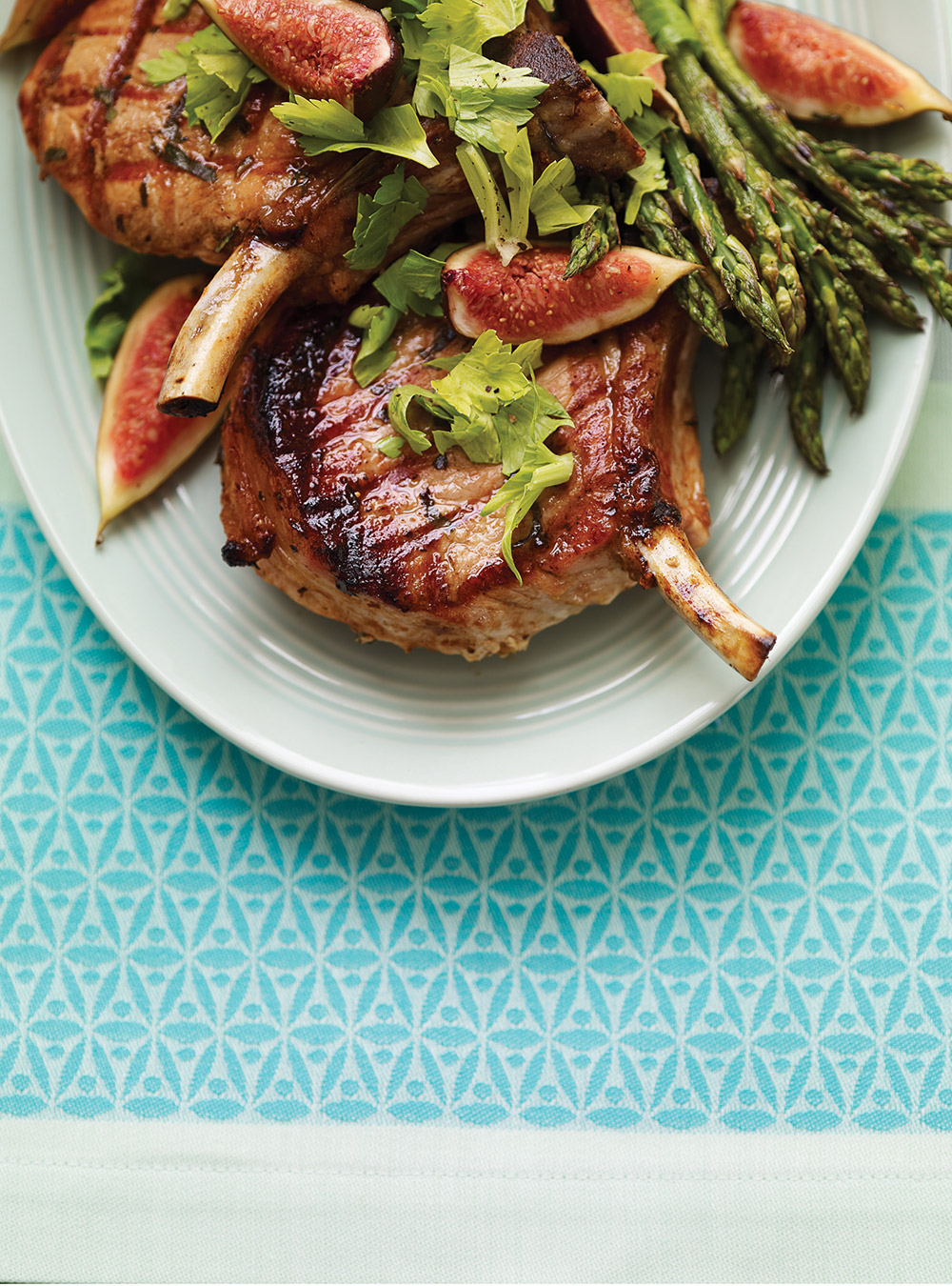 C telettes de porc grill es aux figues ricardo for Cuisine ricardo