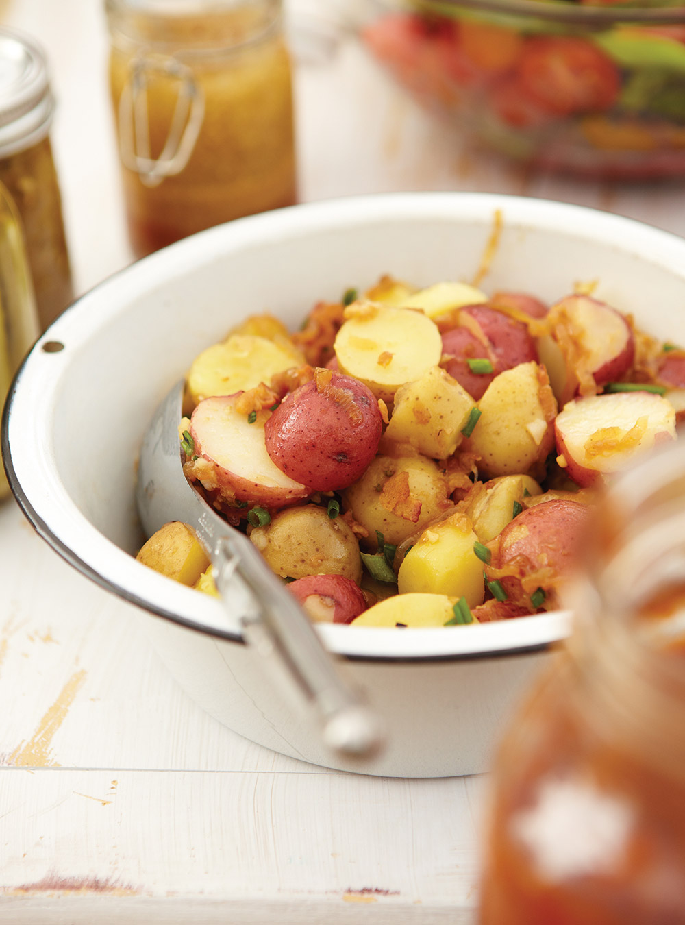 salade de pommes de terre au bacon ricardo. Black Bedroom Furniture Sets. Home Design Ideas