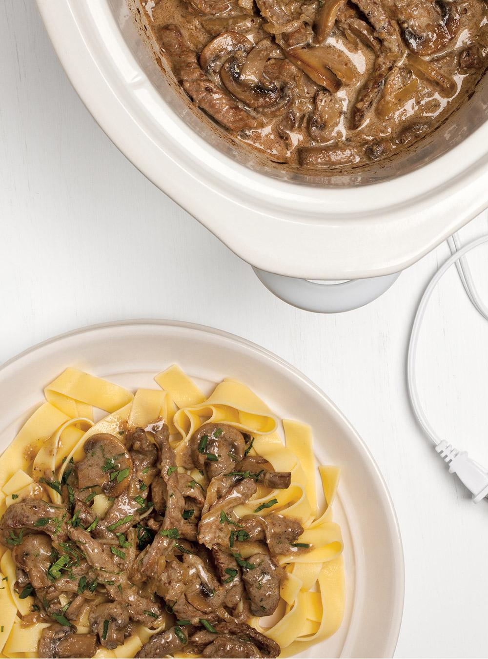 Slow cooker beef stroganoff ricardo for Cuisine ricardo