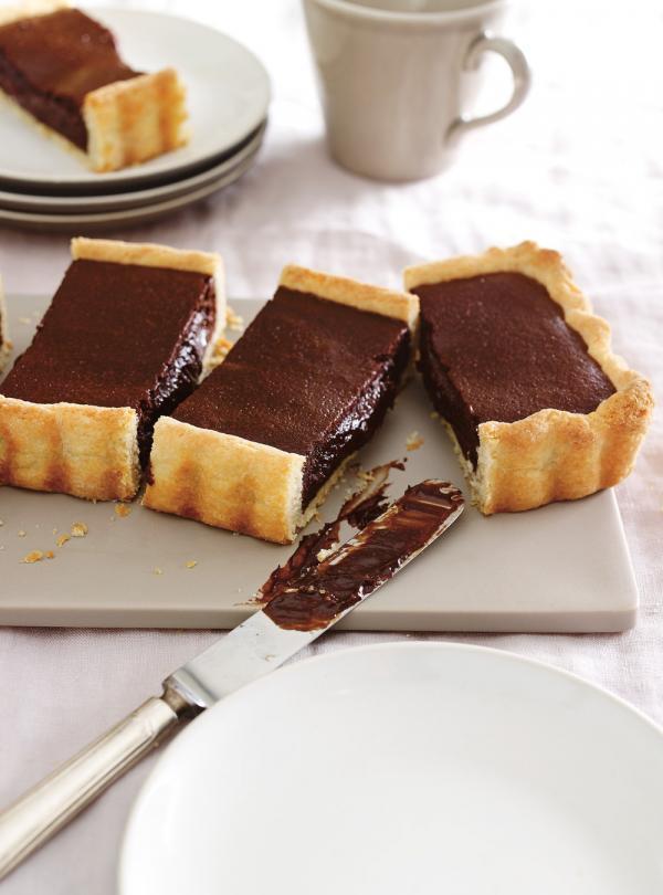 tarte chaude et fondante au chocolat ricardo