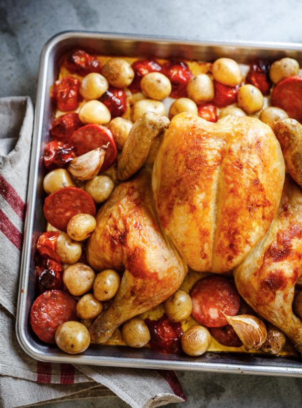 Roasted chicken with chorizo and lemon ricardo - Chorizo a griller recette ...